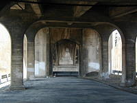 Under Gay St Bridge Phoenixville Feb 2002