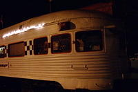 Rock and Roll Diner Train At Night